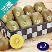 【紐西蘭】陽光金圓頭奇異果25~27粒/箱X2【愛買】