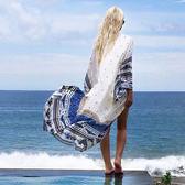 罩衫 印花 民族風 長版 長袖 防曬 開襟 沙灘 比基尼 罩衫【ZS220】 BOBI  04/26