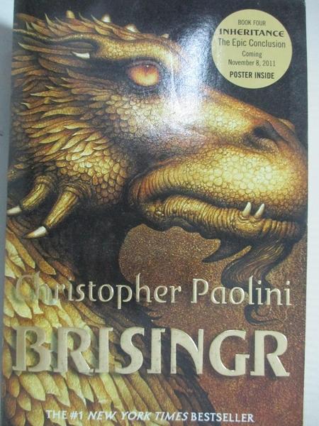 【書寶二手書T1/一般小說_G1B】Brisingr: Or the Seven Promises of Eragon Shadeslayer and…