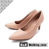 WALKING ZONE SUPER WOMAN系列 尖頭高跟上班淑女鞋 女鞋- 卡其(另有黑.藍.白)
