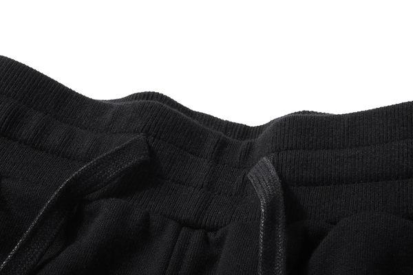 DEBRAND 水墨拼接棉褲-黑
