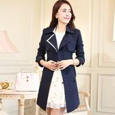 風衣大衣-舒適簡單精緻女長版外套3色5z55【巴黎精品】