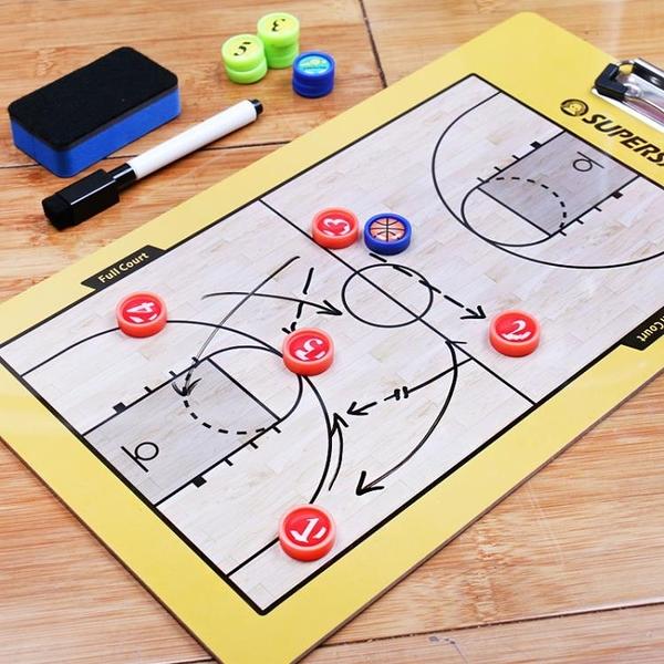 高檔籃球教練戰術指揮板戰術板球板筆記本演示板戰術本教練板 韓小姐