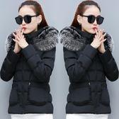 棉服女2018新款冬裝羽絨棉衣女短款韓版大碼修身時尚加厚棉襖外套  晴光小語