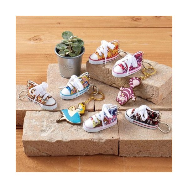 日本迪士尼 愛麗絲 Alice 可愛帆布鞋鑰匙圈 愛麗絲夢遊仙境  該該貝比日本精品 ☆