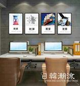 壁畫  辦公室裝飾畫房地產公司走廊壁畫勵志標語企業文化墻畫會議室掛畫