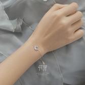 花芽原創設計水月浮生系列手鍊女純銀個性簡約日系學生送禮首飾潮