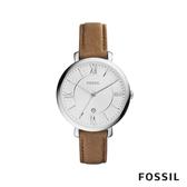 FOSSIL JACQUELINE 真皮女錶-焦糖色 36mm