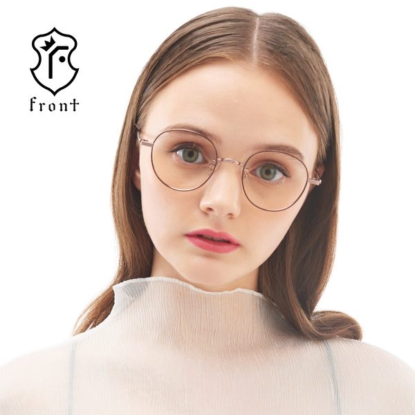 【Front 光學眼鏡】Gk8204-四色可挑選#簡約圓框光學眼鏡