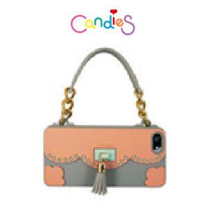 【Candies】流蘇晚宴包(灰)-IPhone 5/5S/5C/SE