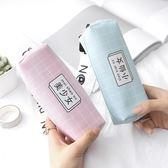 韓國創意少女心筆袋可愛小清新簡約大容量PU鉛筆袋初中學生文具袋    伊芙莎