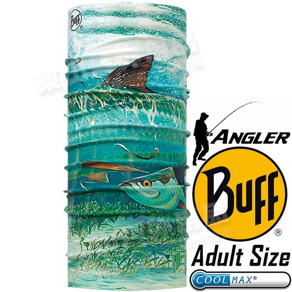 BUFF 117306.555_Angler授權系列 Adult UV Protection魔術頭巾 Coolmax防臭抗菌圍巾 東山戶外