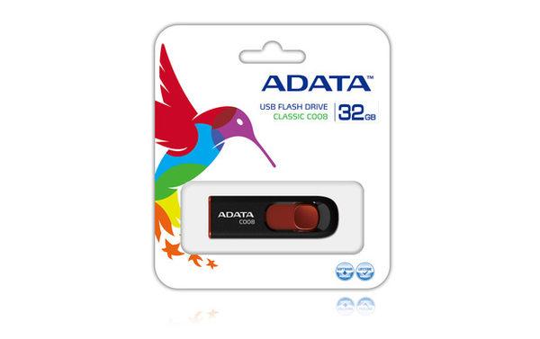 威剛 C008/32GB 行動碟(白藍/黑紅)