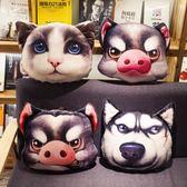 卡通3D印花沙發汽車抱枕被子兩用靠墊辦公室靠枕空調被折疊創意    萌萌小寵igo
