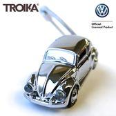又敗家@TROIKA德國福斯金龜車鑰匙圈KR16-40-CH金龜車吊飾LED手電筒LED鑰匙圈Volkswagen鑰匙圈