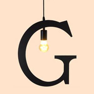 HONEY COMB 復古風英文字母吊燈 G版 TA0066