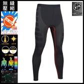 [UF72]抗UV透氣速乾無縫中壓運動壓縮訓練褲UF-MA05/黑紅/M.L.XL/超馬入門款/健走/登山/健身房