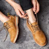 春夏季男士棉鞋韓版潮流馬丁靴男士英倫工裝鞋加絨學生皮鞋子板鞋【七七特惠全館七八折】