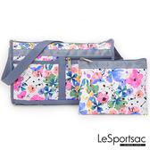 LeSportsac - Standard 雙口袋斜背包-附化妝包 (花卉彩繪) 7519P F965