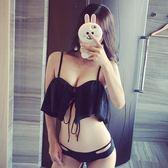 泳裝 比基尼 泳衣 日韓性感bikini 分體三角泳衣女小胸聚攏比基尼【七夕情人節限時八折】