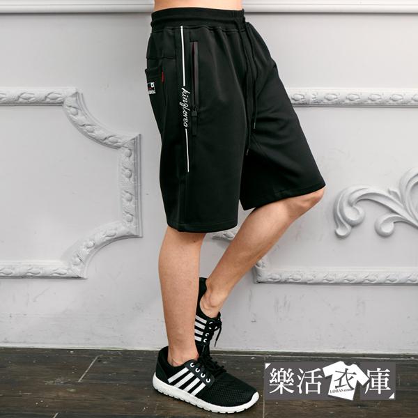 【066-5915】美式織帶鬆緊抽繩彈力休閒短褲(共二色)● 樂活衣庫