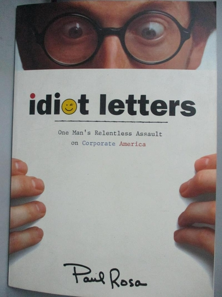 【書寶二手書T1/原文小說_YGJ】Idiot Letters: One Man s Relentless…