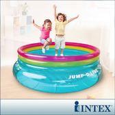 【INTEX】兒童圓形三色透明跳跳床/球池-寬203cm (48267NP)