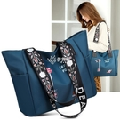 通動包 新款女包尼龍牛津布繡花包大容量通勤側背包簡約休閒手提包包