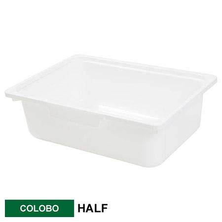 COLOBO收納盒 HALF 淺型 WH 白 NITORI宜得利家居