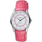 MIDO美度 Belluna 系列日期真鑽女錶-白x粉紅/32mm M02420716036039