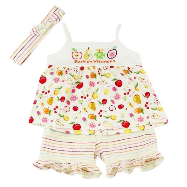 【愛的世界】純棉水果百匯細肩帶套裝/1~4歲-台灣製-  ---春夏套裝 夏出清