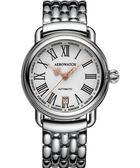 AEROWATCH 古典鏤空指針腕錶-銀/40mm A60900AA13M