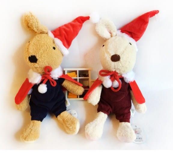 娃娃屋樂園~Le Sucre法國兔砂糖兔(2015版聖誕款)30cm250元另有45cm60cm
