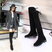 長靴 秋冬季新款韓版過膝靴彈力靴女長筒靴高筒平底靴子潮 - 歐美韓