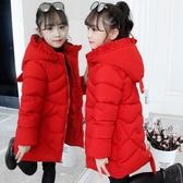 秋冬洋氣羽絨外套 中大童韓版外套 加絨中長款絨潮流夾克兒童棉服 女孩棉襖保暖百搭女童外套