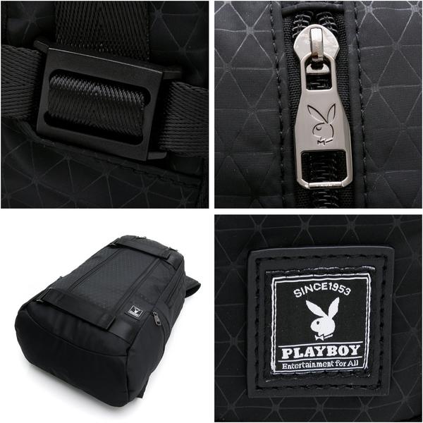 PLAYBOY- 後背包 Geometric系列-黑色