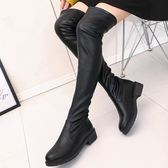 膝上靴 膝上靴長筒靴子女春秋季2019新款顯瘦彈力瘦瘦靴高筒女靴平底鞋