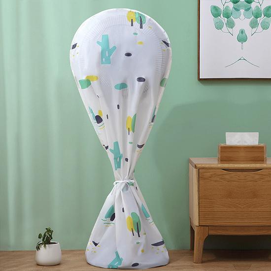 電扇罩 風扇 防塵罩 防水 半包 風扇套 全包 PEVA 防塵 迷霧森林 風扇防塵罩(長款)【Z003】慢思行