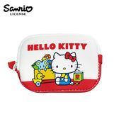 【日本正版】凱蒂貓 長型 防震 零錢包 卡片包 收納包 Hello Kitty 三麗鷗 Sanrio - 463533