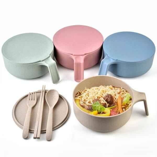 泡麵碗 泡麵碗精東家品可愛陶瓷大號宿舍學生吃飯碗家用日式帶蓋湯碗 果果生活館