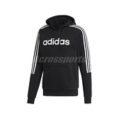 adidas 長袖T恤 HD Sweatshirt 黑 白 男款 帽T 運動休閒 基本款 【ACS】 EI8984