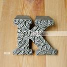 【富藝家飾】英文字母K 鑄鐵製紙鎮 擺飾