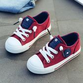 8兒童帆布鞋7秋季女童鞋子5歲板鞋9男童4秋鞋6小學生12男孩運動鞋   優樂居