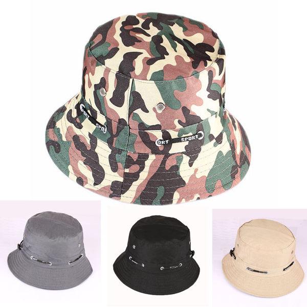 春夏通用男女情侶正韓光身盆帽迷彩遮陽帽戶外旅行帽登山帽漁夫帽