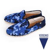 【VERBENAS】Tabarca塔巴卡帆布草編鞋/男仕休閒鞋  迷彩藍(006-MARI)