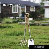 園藝鏟子 不銹鋼大鏟子戶外挖土種綠植鐵鍬農用除草BB園藝工具