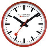 Mondaine 瑞士國鐵錶經典掛鐘/25cm-紅 (CLOCK1R)
