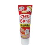寵物家族-日本CIAO 綜合營養食 肉泥膏(鮪魚)80g CS-155