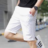 休閒短褲五分短褲男休閒七分中褲子男士沙灘褲寬鬆運動大褲衩薄潮 父親節禮物