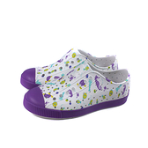native JEFFERSON PRINT 懶人鞋 洞洞鞋 白/紫 海底生物 小童 童鞋 13100101-8968 no060